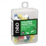 得力(deli)0021 彩色工字钉 美式图钉 按钉 素描书写图钉 安全易用图钉