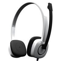 罗技(Logitech)H150 立体声耳机麦克风 白色 语音输入设备