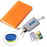 花色(stylor) STB-0312 领先商务套装 健康三格卡包 健康多功能钥匙包 双色折叠杯