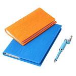 花色(stylor) STB-0309 健康商务套装 健康三格卡包 健康BOOK笔记本 照明护眼多用笔