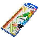 迪克森LYRA COLOR GIANT L3941060 6色10mm六角形粗杆彩色铅笔