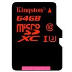 金士顿(Kingston)64GB UHS-I U3 Class10 TF(MicroSD)高速存储