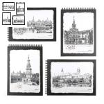 斯图 素描本小镇绘境8K-40页复古欧式大绘画本绘图本空白本子