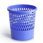 得力(deli)9553 耐用圆纸篓/清洁桶/垃圾桶 小号 (φ260mm) 蓝色、紫色随机
