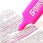 齐心(COMIX)HP908 持久醒目荧光笔 10支装 粉红色