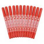 齐心(COMIX)MK804 小双头油性记号笔 12支装 红色