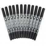 齐心(COMIX)MK804 小双头油性记号笔 12支装 黑色