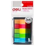得力(deli)9060 5色荧光膜指示标签贴 44*12mm 100张/包 单包