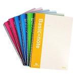 得力(deli)7695-B5/100页螺旋装订本/记事本/软抄本 6本装 通用记事本簿