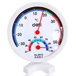 得力(deli)9012 台式温度计/温湿度计 小号