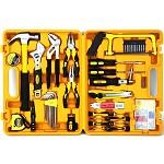 得力(deli)3703 多功能组合工具箱 家用/维修/五金工具套装 53件套