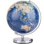 得力(deli)2164 LED灯立体浮雕地球仪/标准教学 高清中英文对照(25cm) 其他文教用品