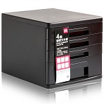 得力(deli)9772 四层硬塑文件柜 黑色