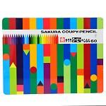 樱花(Sakura)FY-60   60色塑料蜡笔彩色铅笔套装(铁盒)