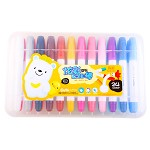 真彩(Truecolor)207124炫彩系列晶之彩棒24色儿童蜡笔无毒宝宝