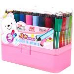 真彩(Truecolor)2183 肥肥印章水彩笔 儿童绘画宝宝无毒绘图画画用笔 36色