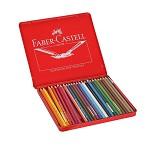 辉柏嘉(Faber-castell)115925 水溶性彩色铅笔 水溶彩铅24色套装