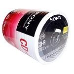 索尼(SONY)CD-R 48速 100片 塑封装 简装 空白光盘 刻录盘 车载音乐盘