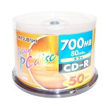 三菱(MITSUBISHI)星球系列 52速 CD-R 空白光盘 50片桶装 刻录盘