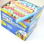 迪克森乐博咔乐(GIOTTO ROBERCOLOR) 539000 100只装彩色粉笔