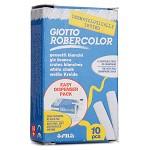 迪克森乐博咔乐(GIOTTO ROBERCOLOR) 538700 10支装黑盒白色无尘粉笔 安全健康
