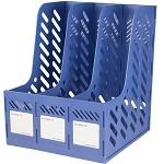 三木(SUNWOOD)FB4103 三联文件框/文件筐/文件栏 蓝色