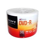 索尼(SONY)DVD-R 16速 50片 塑封装 简装 空白DVD光盘 刻录盘