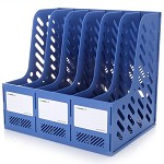 三木(SUNWOOD)FB4106 六联文件框/文件筐/文件栏 蓝色