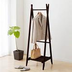 家逸(JIAYI)  现代简约叉形挂衣架 实木衣架 卧室落地衣帽架