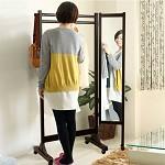 家逸(JIAYI)  实木衣帽架带镜挂衣架 落地全身镜多功能实木晾衣架 创意试衣镜子穿衣镜 黑色