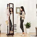 家逸(JIAYI)  实木落地穿衣镜 旋转全身落地镜 多功能试衣镜子