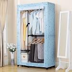 溢彩年華(home organizer) (home organizer) DKB2-073 加粗管大衣柜 多層網片衣柜 組合衣柜 簡易衣柜衣櫥 布衣柜