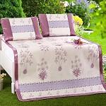 九洲鹿 凉席冰丝席三件套双人床席宫庭御藤凉席子 可折叠凉席 玫瑰之约 1.5米床