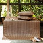 富安娜家纺 圣之花 凉席件套夏季空调席 折叠席子清凉席 沐卉 点缀 微凉 沐卉 1.8*2米