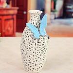 四叶草(SIYECAO) 白色镂空蝴蝶陶瓷花瓶摆件