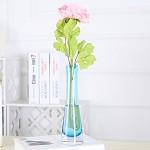 四叶草(SIYECAO) 细口彩色玻璃花瓶 家居装饰品摆件 浅蓝色