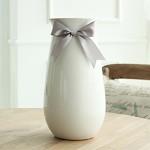 米子家居 家居装饰品落地客厅花器摆设摆件装饰品陶瓷花瓶花插辛蒂瑞拉花瓶 白色大号