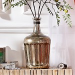 奇居良品 印度进口家居装饰摆件 索菲尼镀银玻璃装饰摆瓶花瓶 索菲尼镀银玻璃装饰摆瓶花瓶