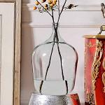奇居良品 西班牙进口家居装饰摆件 手工制纯色小口超大玻璃花瓶摆瓶 玻璃花瓶