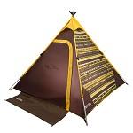 牧高笛(Mobi Garden)防风防暴雨大空间3-4人家庭休闲露营帐篷Trip-A塔 咖色印花 室外装具