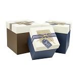 柯柯安(KEKEAN) 创意礼品包装盒 加高礼品盒 正方形生日礼物盒  蓝色底款 小号12*12*13cm