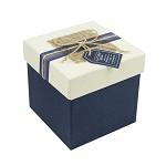 柯柯安(KEKEAN) 創意禮品包裝盒 加高禮品盒 正方形生日禮物盒  藍色底款 小號12*12*13cm