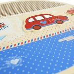 柯柯安(KEKEAN) 清新汽車橢圓形禮品盒 兒童生日禮物盒 送女友可愛禮物包裝盒  黃色汽車 大號21.5*19*7.5cm