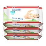 贝亲(Pigeon) PL225 婴儿柔湿巾80片装(3包)
