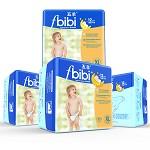五羊(FIVERAMS) fbibi智能干爽婴儿纸尿裤21片×4包 加大号XL码【12kg以上】网络特惠装