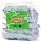 貝親(Pigeon)PL133 嬰兒柔濕巾10片裝(6包)