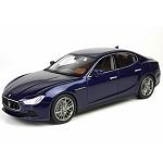 玛莎拉蒂(MASERATI)意大利仿真精品汽车模型 1:18 玛莎拉蒂Ghibli 总裁轿车BBR 蓝色