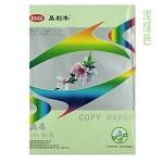易利丰(ELIFO) 80克彩色复印纸 彩色纸 手工纸 手工折纸 打印纸 儿童益智剪纸折纸 浅绿 A3