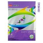 易利丰(ELIFO) 80克彩色复印纸 彩色纸 手工纸 手工折纸 打印纸 儿童益智剪纸折纸 深紫 A3