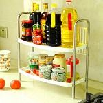宝优妮 DQ-0937 厨房调味料品置物架 收纳架 不锈钢沥水层架储物架双层整理架碗架